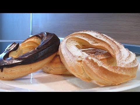 Пирожное заварное кольцо - Кулинарные видео рецепты