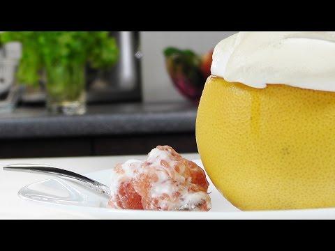 Грейпфрут с меренгой - Кулинарные видео рецепты