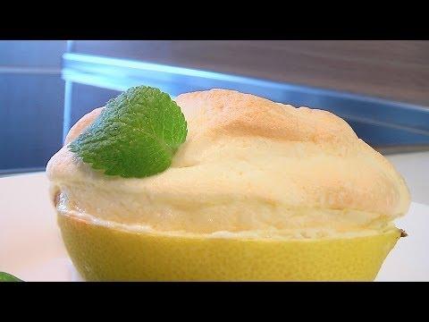 Лимонные корзинки с суфле - Кулинарные видео рецепты