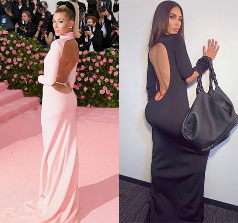 Битва платьев: Хейли Бибер против Ким Кардашьян